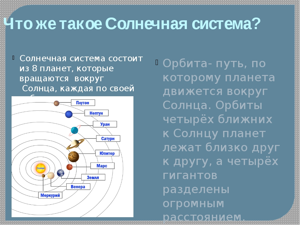 Что жетакое Солнечная система? Солнечная система состоит из 8 планет, котор...