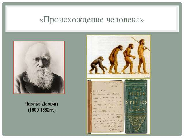 «Происхождение человека» Чарльз Дарвин (1809-1882гг.)