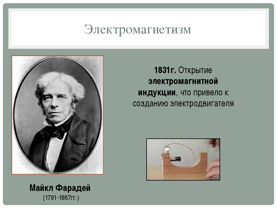Электромагнетизм Майкл Фарадей (1791-1867гг.) 1831г. Открытие электромагнитно...