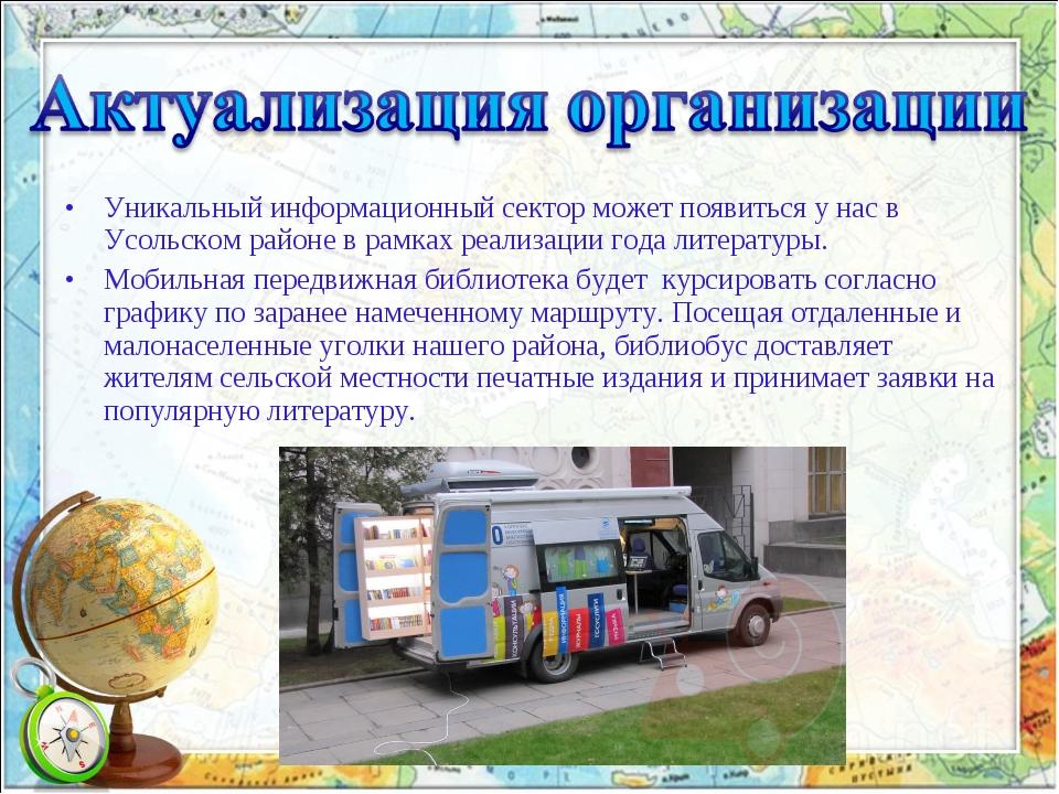 Уникальный информационный сектор может появиться у нас в Усольском районе в р...