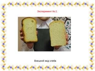 Эксперимент № 2. Внешний вид хлеба