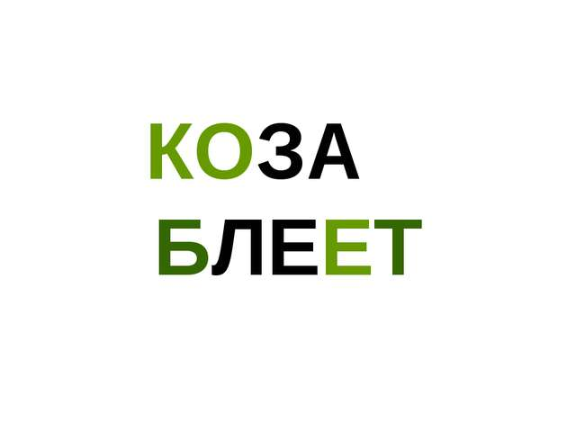 КОЗА БЛЕЕТ