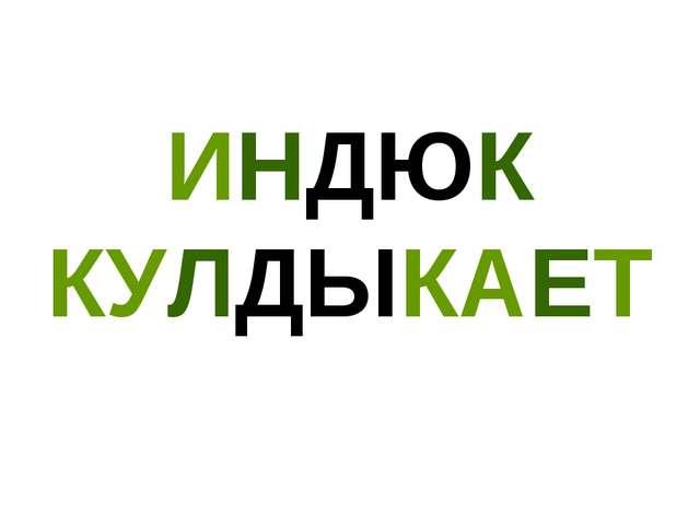 ИНДЮК КУЛДЫКАЕТ