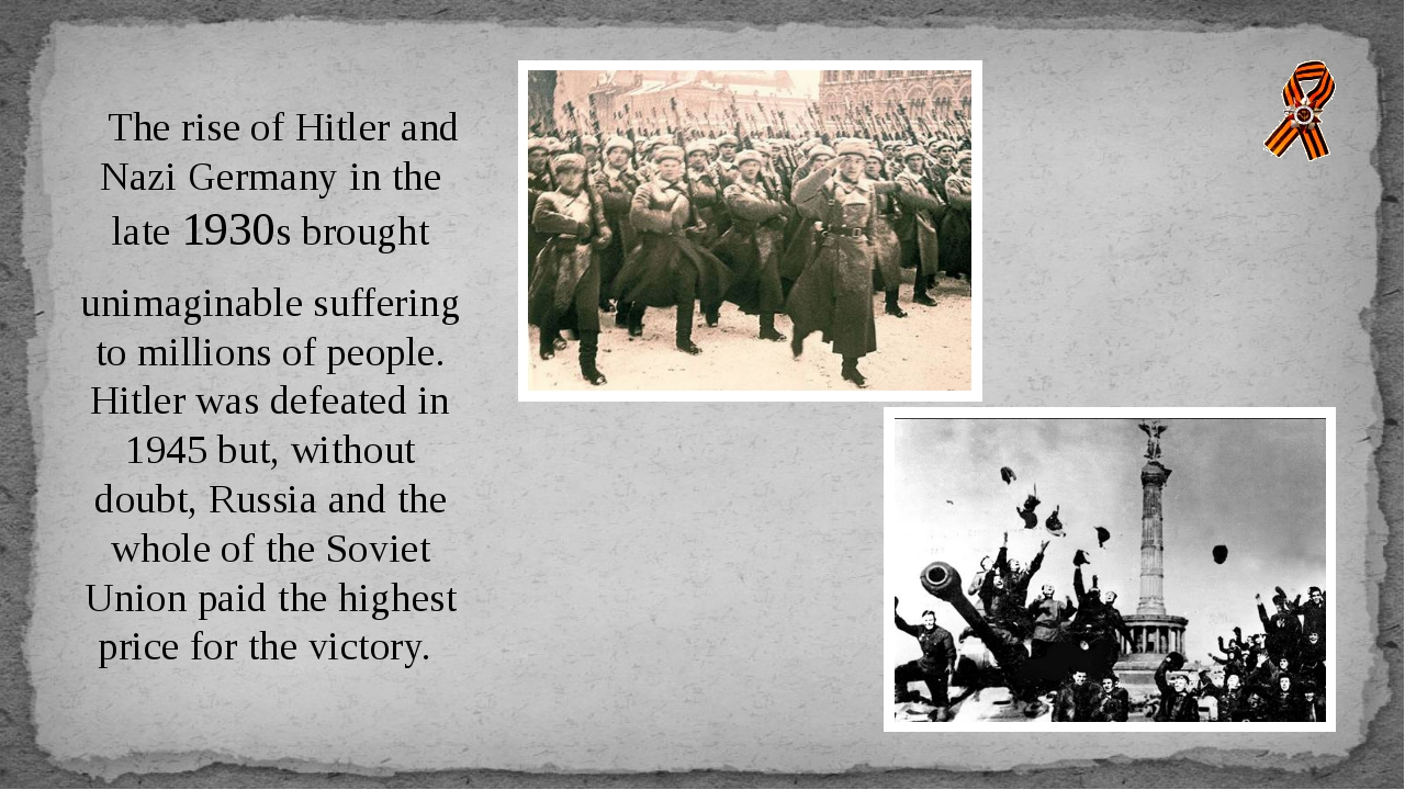 The rise of Hitler and Nazi Germany in the late 1930s brought unimaginable s...