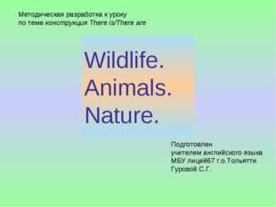Wildlife. Animals. Nature. Методическая разработка к уроку по теме конструкци