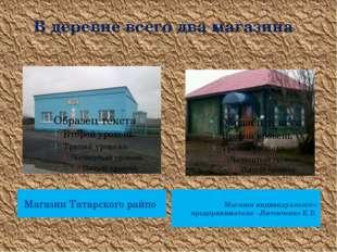 В деревне всего два магазина Магазин Татарского райпо Магазин индивидуальног