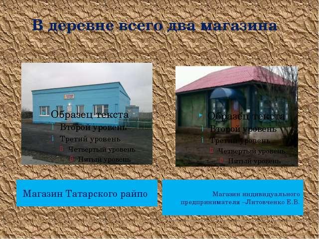 В деревне всего два магазина Магазин Татарского райпо Магазин индивидуальног...