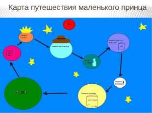 Карта путешествия маленького принца