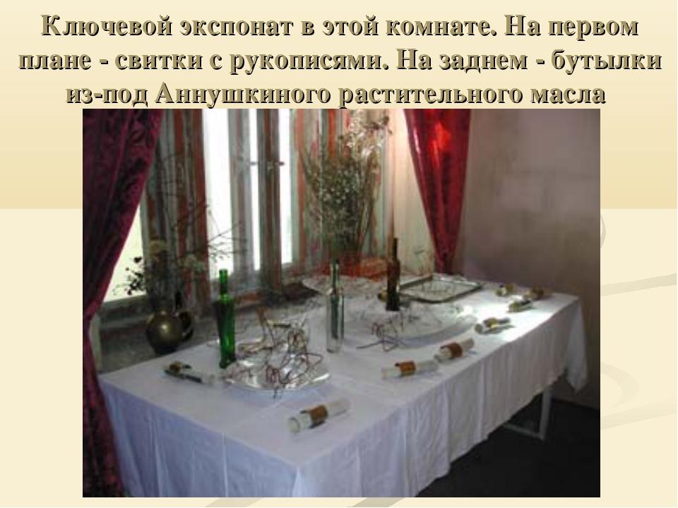 Ключевой экспонат в этой комнате. На первом плане - свитки с рукописями. На з...