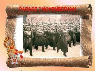 PARADE 7 NOVEMBER1941