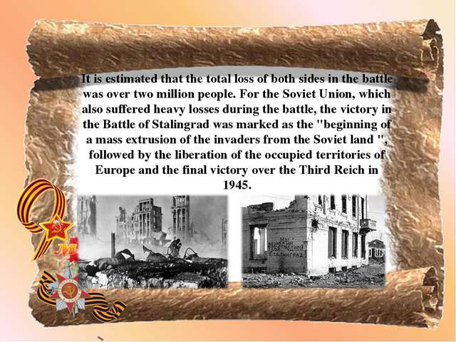 It is estimated that the total loss of both sides in the battle was over two...