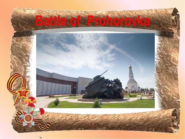 Battle of Prohorovka