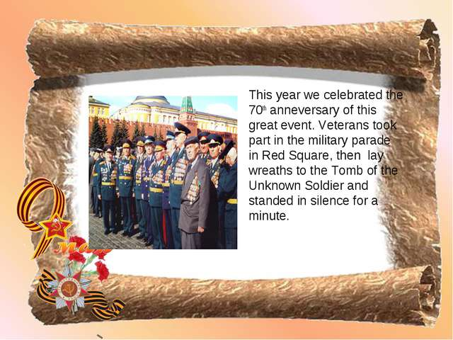 This year we celebrated the 70th anneversary of this great event. Veterans to...