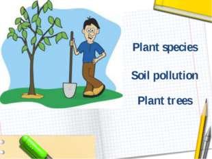 Plant trees Soil pollution Plant species