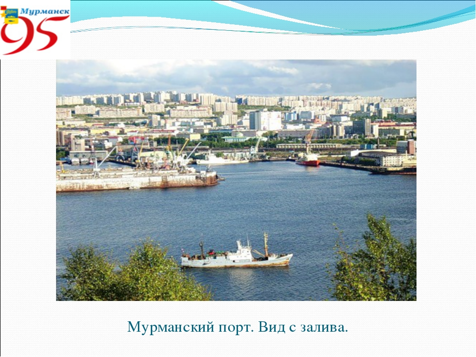 Мурманский порт. Вид с залива.
