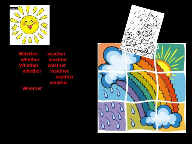 Whether the weather is wet Or whether the weather is cold Whether the weather...