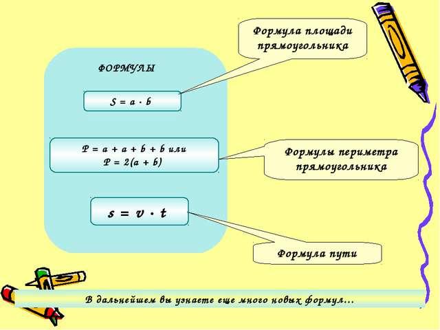 Матиматические формулы по 5 класс
