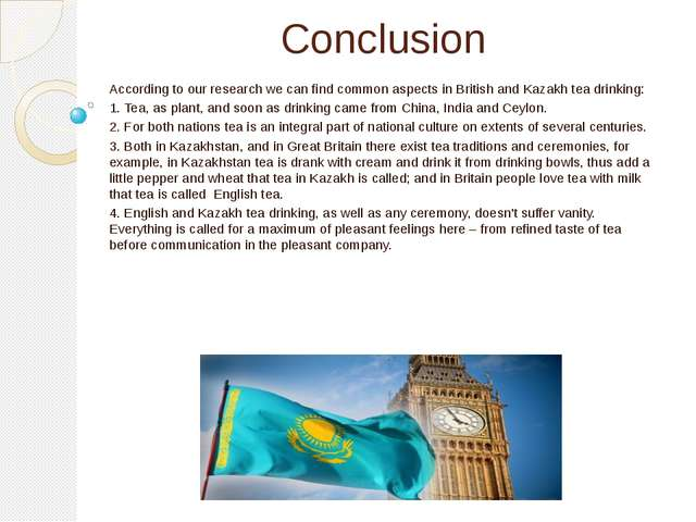 Conclusion According to our research we can find common aspects in British an...