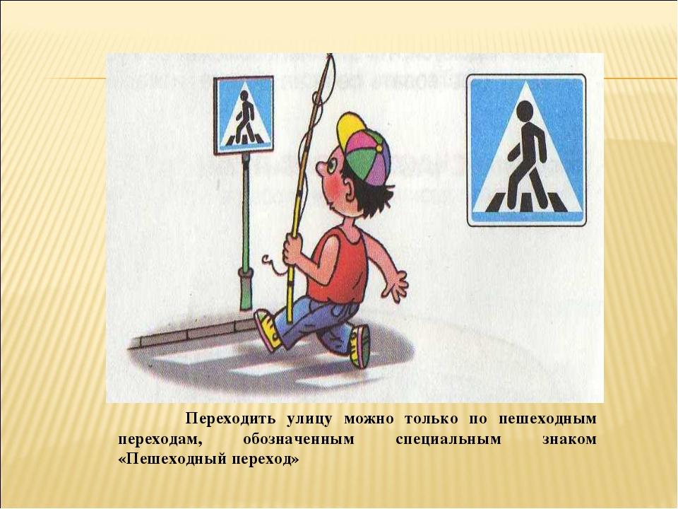 Переходить улицу можно только по пешеходным переходам, обозначенным специаль...