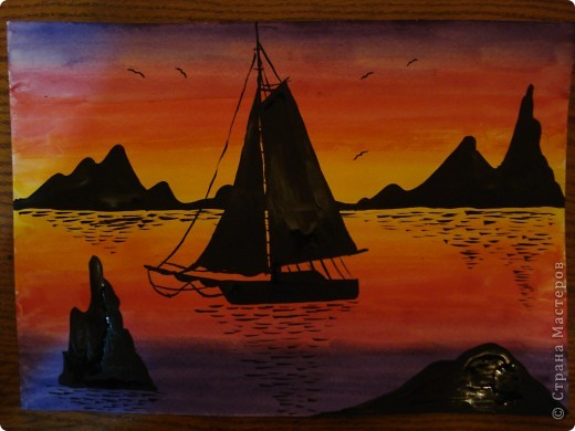 Рисование и живопись - Кораблик