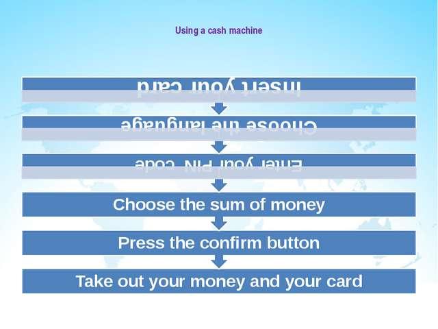 Using a cash machine