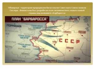 Обширные территории природными богатствами Советского Союза манили Гитлера. Ф