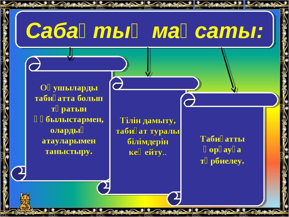 Сабақтың мақсаты: Оқушыларды табиғатта болып тұратын құбылыстармен, олардың а...