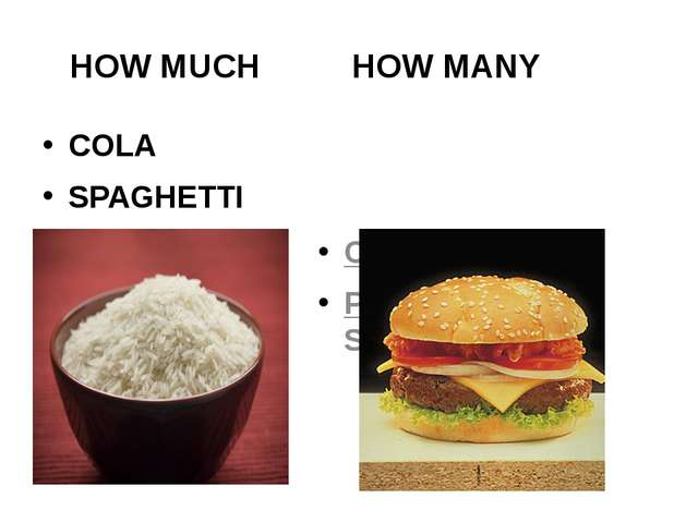 HOW MUCH HOW MANY COLA SPAGHETTI CANS OF COLA PLATES OF SPAGHETTI