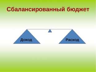 Доход Расход Сбалансированный бюджет