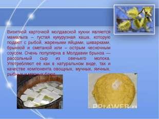 Визитной карточкой молдавской кухни является мамалыга – густая кукурузная каш