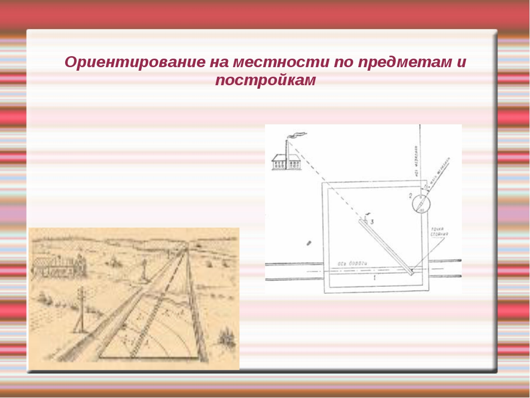 Ориентирование на местности по предметам и постройкам