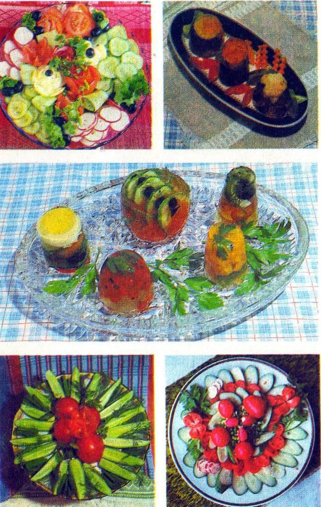 Оформление салатов из овощей фотографии