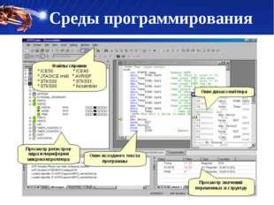 Среды программирования текстовый редактор компилятор средства автоматизации с