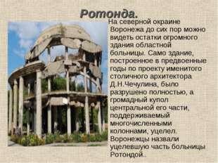 Ротонда. На северной окраине Воронежа до сих пор можно видеть остатки огромно