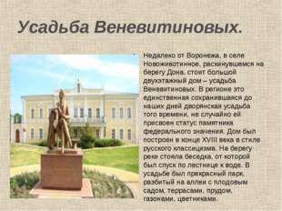 Усадьба Веневитиновых. Недалеко от Воронежа, в селе Новоживотинное, раскинувш