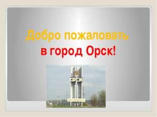 Добро пожаловать в город Орск!