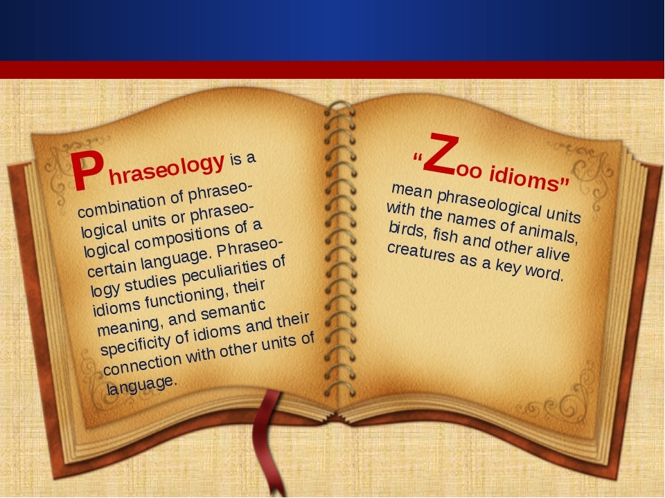 Phraseology is a combination of phraseo-logical units or phraseo-logical comp...