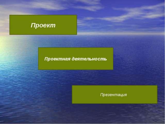 Проект Проектная деятельность Презентация
