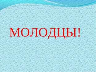 * МОЛОДЦЫ!