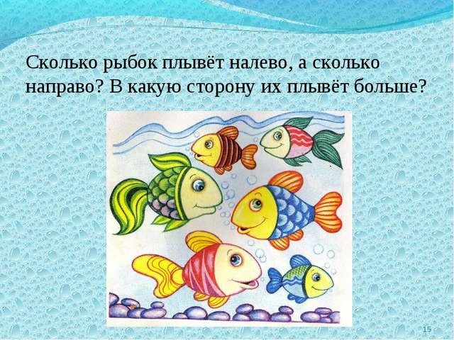 * Сколько рыбок плывёт налево, а сколько направо? В какую сторону их плывёт б...