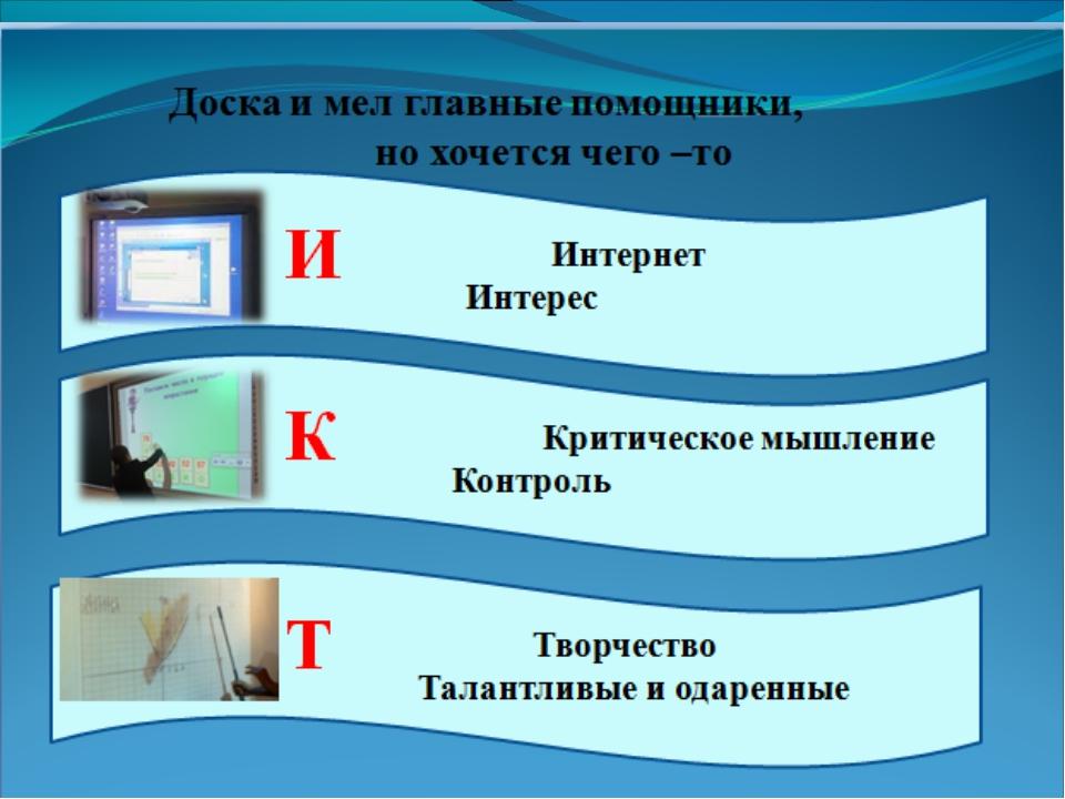 Основные направления применения ИКТ Организация познавательной деятельности у...