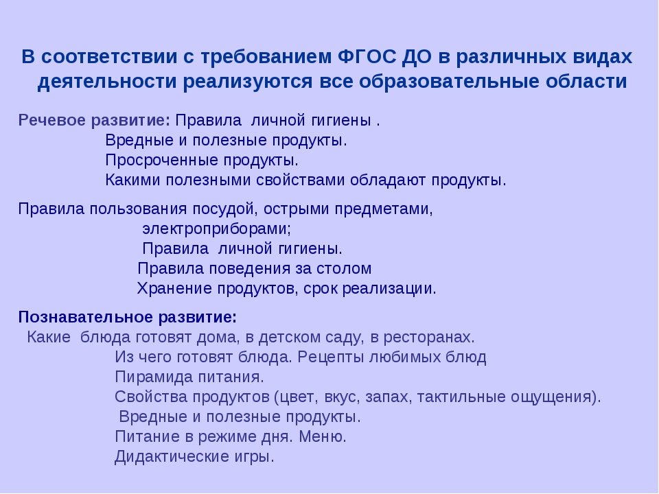 В соответствии с требованием ФГОС ДО в различных видах деятельности реализуют...
