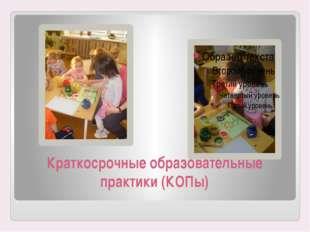 Краткосрочные образовательные практики (КОПы)