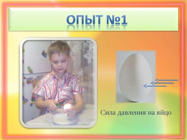 Сила давления на яйцо