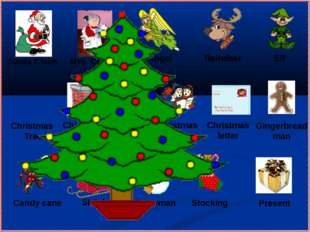 Gingerbread man Mrs. Claus Santa Claus Angel Christmas Tree Christmas letter