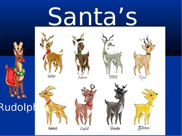 Santa's reindeer Rudolph