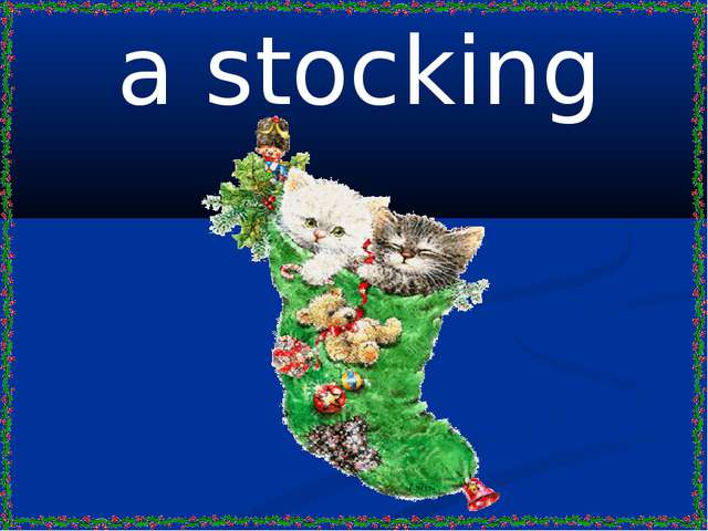 a stocking