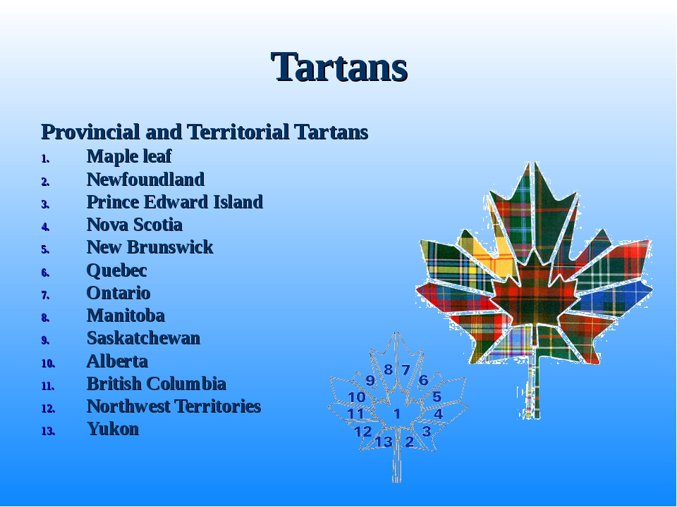 Tartans Provincial and Territorial Tartans Maple leaf Newfoundland Prince Edw...