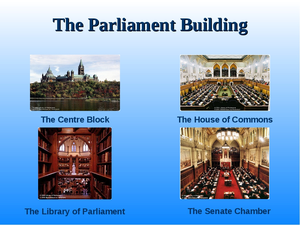 The Parliament Building The Centre Block The House of Commons The Senate Cham...