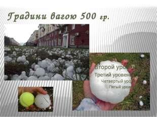 Градини вагою 500 гр.